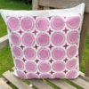 Block Printed Cushion Cover- Dotty Circle Tile