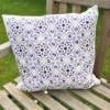 Block Printed Cushion Cover- Mediterranean Tile
