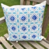 Block Printed Cushion- Mexican Tile Pattern