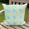 Block Printed Cushion Cover- Large Moroccan Tile