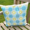 Block Printed Cushion Cover- Patterned Tile 1