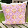 Block Printed Cushion Cover- Block Printed Cushion Cover- Patterned Tile 2