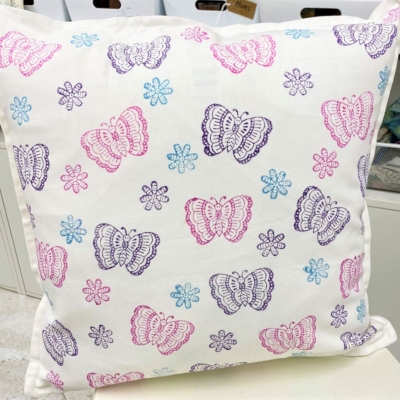 Butterfly and Flower Cushion Cover Printing Kit