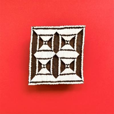 Indian Wooden Printing Block - Aztec 6