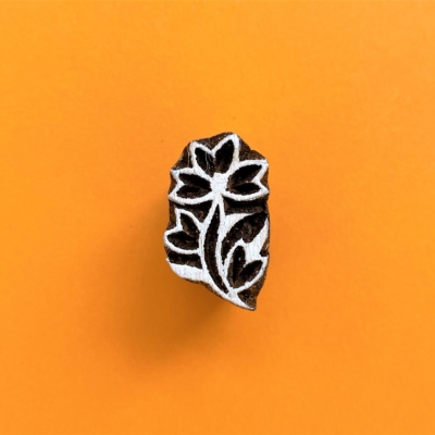 Indian Wooden Printing Block - Mini Paisley Flower
