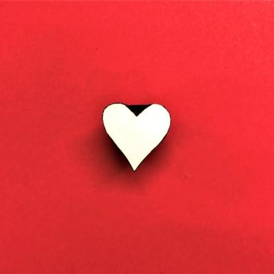 Indian Wooden Printing Block - Mini Simple Heart