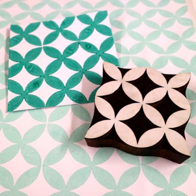 Indian Wooden Printing Block - Petal Repeat