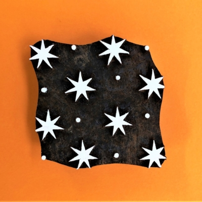 Indian Wooden Printing Block - Seconds Star & Dot Design