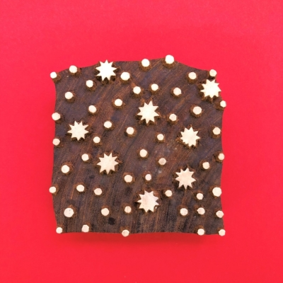 Indian Wooden Printing Block - Seconds Starry Tile Design