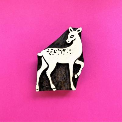 Indian Wooden Printing Block - Small Bambi