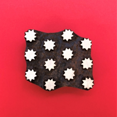Indian Wooden Printing Block - Seconds Solid Starry Tile