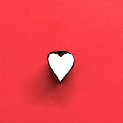 Indian Wooden Printing - Tiny Simple Heart