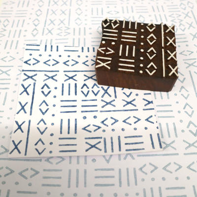 Indian Wooden Printing Block - Tribal Pattern