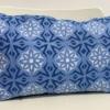 Medium Tile Sky Blue Linen Cushion Cover