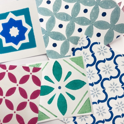 Patterned Tile Printing