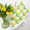 Spring Tea Towels- Yellow Tulips