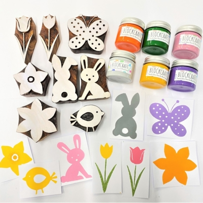 Indian Wooden Printing Block Set - Ultimate Easter Bundle