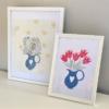 Framed Floral Jug Print