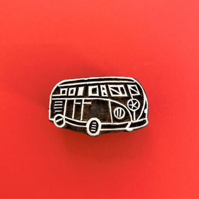 Indian Wooden Printing Block - Camper Van