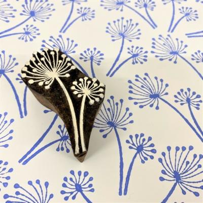 Indian Wooden Printing Block - Small Allium