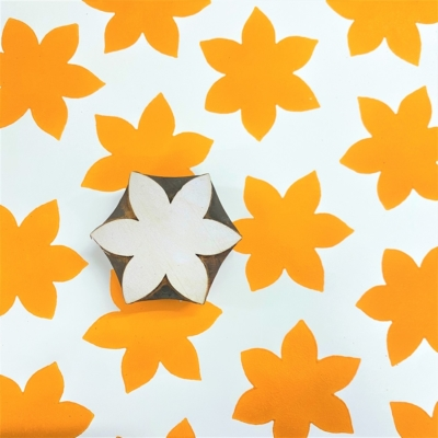 Indian Wooden Printing Block - Solid Daffodil
