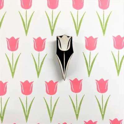 Indian Wooden Printing Block - Spring Tulip 2