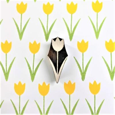 Indian Wooden Printing Block - Spring Tulip 1