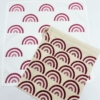 Raspberry Rainbow Block Printed Sample