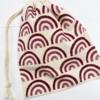 Raspberry Rainbow Print Bag