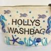 Block Printed Seaside Theme Wash Bag