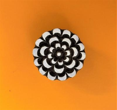 Indian Wooden Printing Block - Large Flower Burst