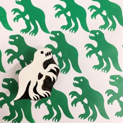 Indian Wooden Printing Block - Large T-Rex