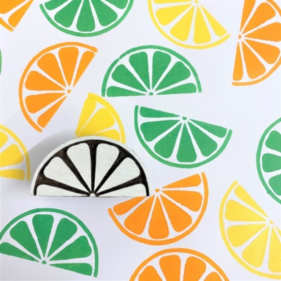 Indian Wooden Printing Block - Citrus Slice