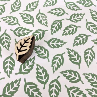 Indian Wooden Printing Block - Mini Falling Leaf