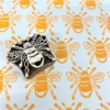 Indian Wooden Printing Block - Small Bee