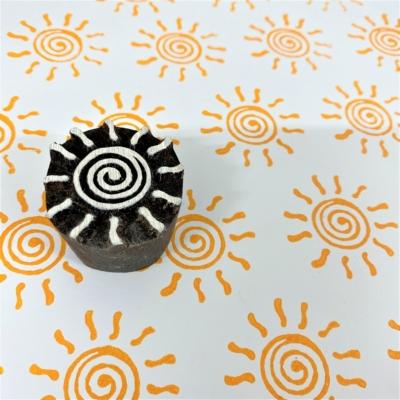 Indian Wooden Printing Block - Sun