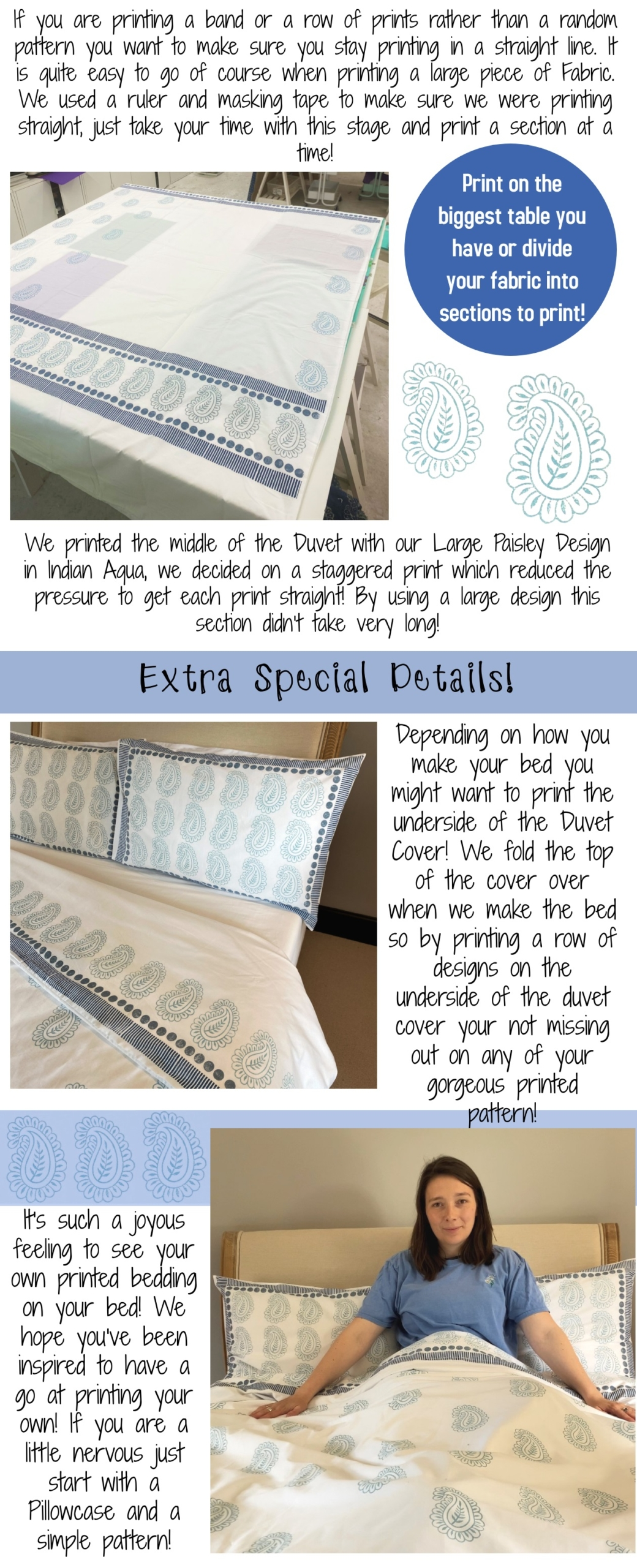 Block Printing Project- Hand Print Your Own Bedding