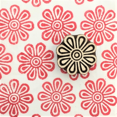 Indian Wooden Printing Block - Sunny Flower