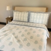 Block Printed Blue Paisley Bedding
