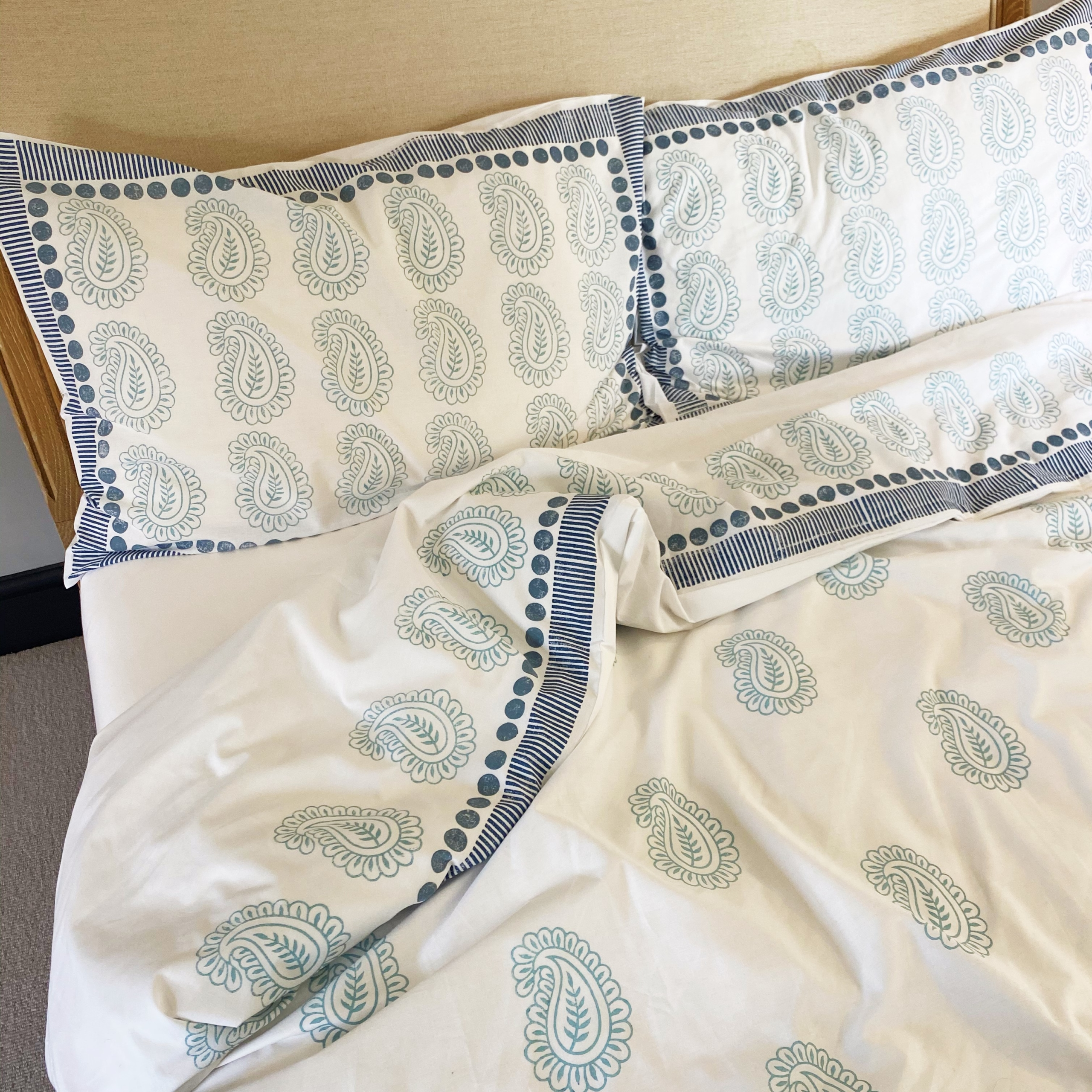 Block Printed Bedding- Printing Project