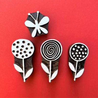 Indian Block Printing Set - Lollypop Flowers