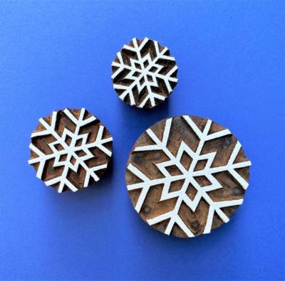 Indian Block Printing Set - Simple Snowflakes
