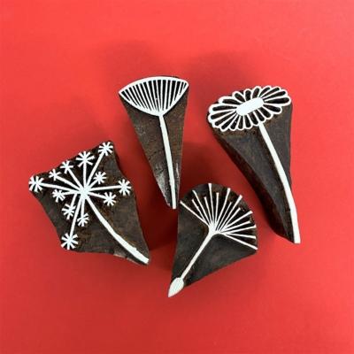 Indian Block Printing Set - Stylised Seed Heads