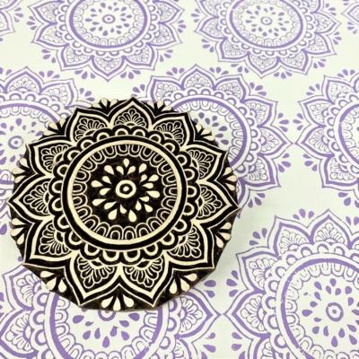 Indian Wooden Printing Block - Large Indian Mandala