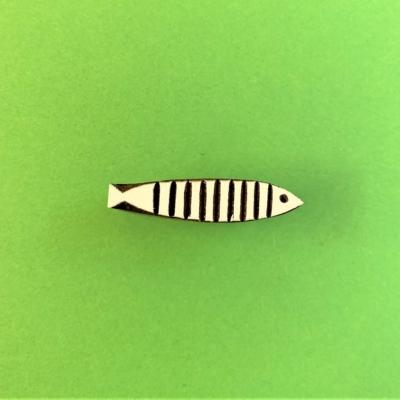 Indian Wooden Printing Block - Small Skinny Fish
