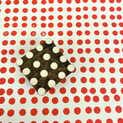 Indian Wooden Printing Block - Small Spots