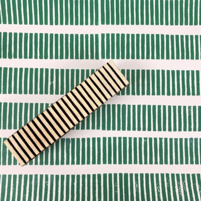 Indian Wooden Printing Block - Small Stripey Lined Border