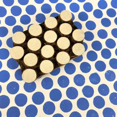 Indian Wooden Printing Block - Spots