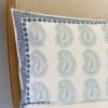 Large Indian Paisley Block Printing Pillow