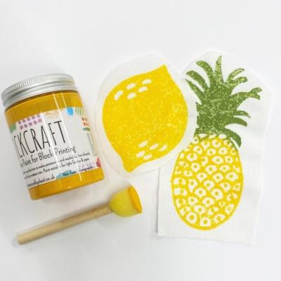 Fabric Paint 100ml Lemon Yellow